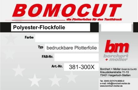 Polyester-Flockfolie 0,3mm