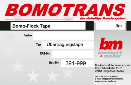 Bomo-Flock Tape