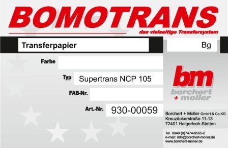 Supertrans-Papier NCP 105