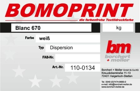 Bomoprint BLANC 670